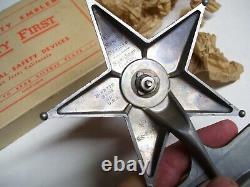 40s Original Nos Sécurité Star Plaque De Licence Topper Vintage Chevy Ford Jalopy Vw