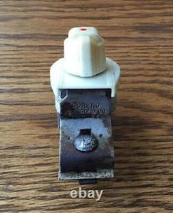 Années 1930 1940 Sous Dash Heater Switch Vtg Accessoire Intérieur Illuminé Art Déco
