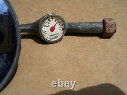 Années 1940 Thermomètre Antique Joma Miroir Automobile Vintage Chevy Ford Jalopy Trog