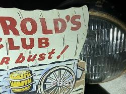 Années 1940 Vintage Accessory Harolds Club Plaque D'immatriculation Topper Bomb Lowrider