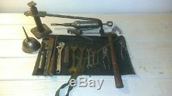 Après Guerre Willys MB Ford Gpw Jeep Jack, Barcalo Wrenches, Alemite & Toolbag