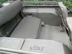Armature De Siège Arrière Jeep Willys MB Ou Ford Gpw De La Seconde Guerre Mondiale Armée Américaine Fabriquée Aux États-unis
