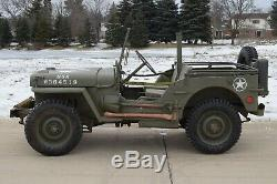 Armée Américaine 1944 Willys MB Militaire Jeep Ford Gpw Marine Camionnette