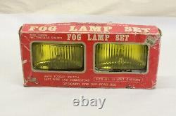 Camion De Camion De Voiture Nos Vintage Verre Amber Lentille Chrome Fog Lampe De Lumière