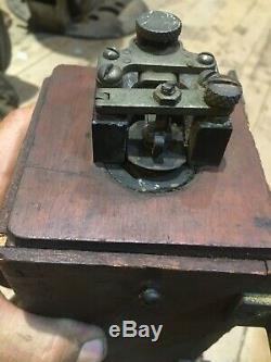 D'origine 1910-1920 Brass Early Car Bobine D'allumage Pour Les Pièces / Restauration Oem Auto