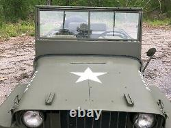 Début 1942 Willys MB Wwii Militaire Jeep G503 Gpw Ford 1943 1944 1945 Bantam Ma
