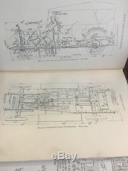 Début Ingénierie Antique Vintage Auto Diagrammes Oem D'origine 1922 Châssis Auto