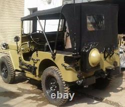 Dessus Souple En Toile Cousue Pour Jeep Ford Willys MB Gpw 1941-1948 Khaki & Black