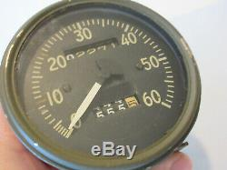Ford Gpw Jeep Willys MB Militaire Seconde Guerre Mondiale Speedo Speedometer