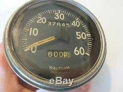 Ford Gpw Jeep Willys MB Speedo Tachymètre Seconde Guerre Mondiale Militaire Waltham