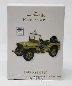 Hallmark Ford Gpw 2012 1943 Jeep Guerre Mondiale Nib Sib