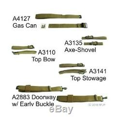 Jeep Militaire Willys Mb, Ford Gpw (a2883-a4127) Complete Set Bracelet, Jmp