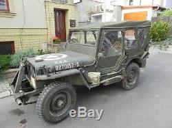 Jeep Willys MB Jeepverdeck Ford Gpw, Completo Winterverdeck Con Türplanen