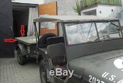 Jeep Willys Mb, Ford Gpw, Bâche Pour Pendentif, Capot De Remorque