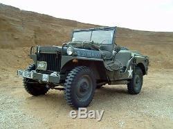 Jeep Willys Mb, Ford Gpw, Side Pocket! Pour Le Conducteur Et Côté Passager