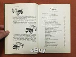 La Jeep Militaire Complète Willys MB / Ford Gpw 1971 Post Motor Livres Hb