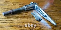 La Poignée De Porte Des Années 1930 Avec Keys Vtg Nors Serrure Extérieure