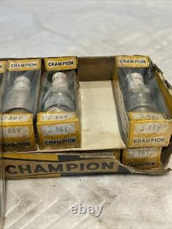 Lot Original Antique De 10 1930 De Voiture De Champion De Camion Spark Plug J-86y