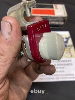 Nos Années 1930 1940 Accessoire Éclairé Sous Dash Fog Back-up Light Switch 6v Bomb