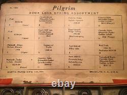 Original 20s 30s 40 Pilgrim Door Lock Spring Store Display Antique Ford Vintage