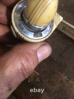Original Des Années 40 Vintage Dash Mount Light Switch Zephyr Lincoln Art Déco