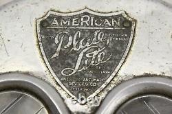 Origine 1920 30 Camion De Voiture Accessoire Licence Plate Lumiã¨re Montage Support Trog
