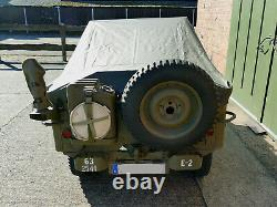 Rain Couverture Us Army Willys Jeep MB Persenning Regenverdeck Ford Gpw Hotchkiss