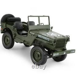 Rc Truck 4x4 110 Jeef 1941 Wwii Willys MB 4wd Off Road Jeep Ford Gpw 2.4ghz Rtr