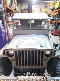 Toile Capote Canopy Pour Willys MB Ou Ford Gpw Jeep (réplique Militaire)