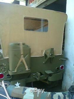 Toile Souple Cousue Pour Jeep Ford Willys MB Gpw 1941-48 Kaki Marron Noir