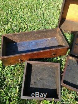 Vintage 6 Tiroirs En Bois Machiniste Poitrine Pilliod Outil Shop Hardware Co Detroit