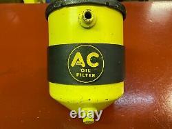 Vintage Ac S-6 Filtre À Huile Hot Rat Rod Jaune & Noir Chevy Ford