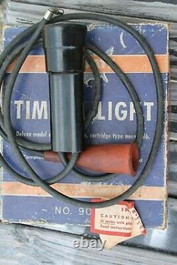 Vintage Astuce Moteur Timing Tester Auto Gm Service Street Ford Chevy Olds