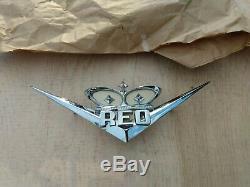 Vintage Nos Diamant Reo Speedwagon Emblem New Old Stock 27710 Y2 Gold Comet Vhtf