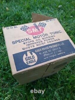Vintage Nos Full Case Gold Eagle Smt Moteur Spécial Tonique Rare Canettes D'huile Caverne Homme