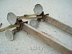 Vintage Roof Rack Asm. Supports & Hardware Pièces Lot Ventouses En Bois Antique