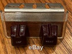 Vintage Under The Double Dash Chauffe Ford Chevy Defrost Commutateur Gm Mopar
