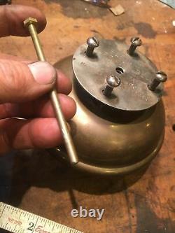 Voiture Antique Bermuda Cloche Brass Ère Oldsmobile Courbe Corne De Tiret Fort! Vintage