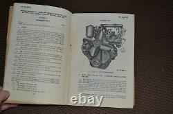 Vtg 1944 Willys MB Ford Gpw Jeep Engine & Accessories Manual Tm9-1803a