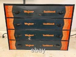 Wagner Rare Vintage Lockheed Pièces D'outils Tiroirs Cabinet Boîte Plateau D'origine 920