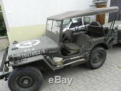 Willys Jeep MB Jeepverdeck Ford Gpw, Sommerverdeck Tropico, En Sable Ou Sable