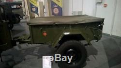 Willys Jeep Mb, Ford Gpw, Abdeckplane Für Den Anhänger, Remorque Verdeck