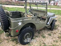 Wow Originale Début Wwii 1942 Ford Gpw Script Jeep Willys MB Armée Américaine Armée