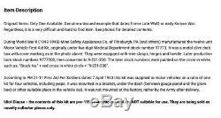 Ww2 Et La Guerre De Corée Jeep Willys MB Ford Gpw First Aid Kit Avec Contenu Nos Rare