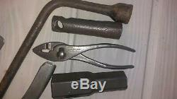 Ww2 Originale Willys MB Ford Gpw Jeep Jack, Barcalo Alemite & Toolbag Wrenches