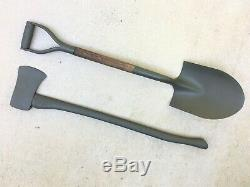 Wwii Us Army Pelle Et Hache / Hache De Véhicule Militaire Willys Jeep MB Ford Gpw